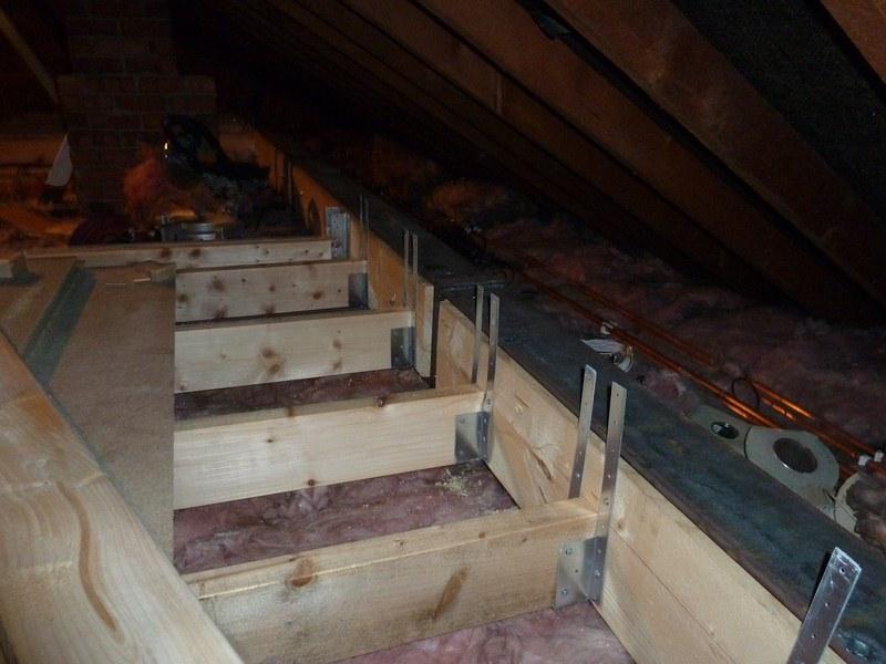 Day 18 Floor Joists Spanning The Loft My Loft Conversion