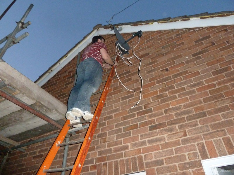 Day 24 Changing Satellite Cable And Terminating Cable At